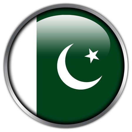 Pakistan Flag glossy button photo