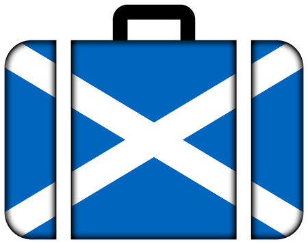 Suitcase with Scotland Flag photo