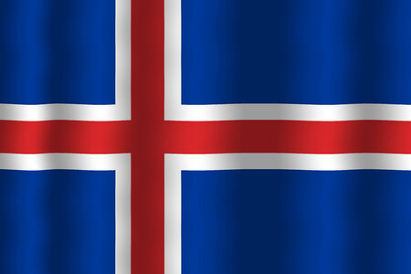 iceland flag: Waving Iceland Flag