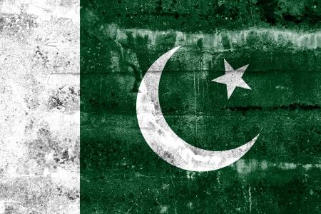 pakistan flag: Pakistan Flag painted on grunge wall