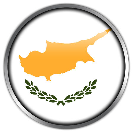 Cyprus Flag glossy button photo