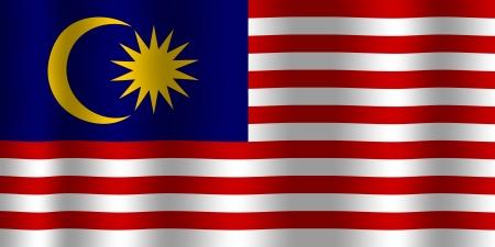 Waving Malaysia Flag Stock Photo