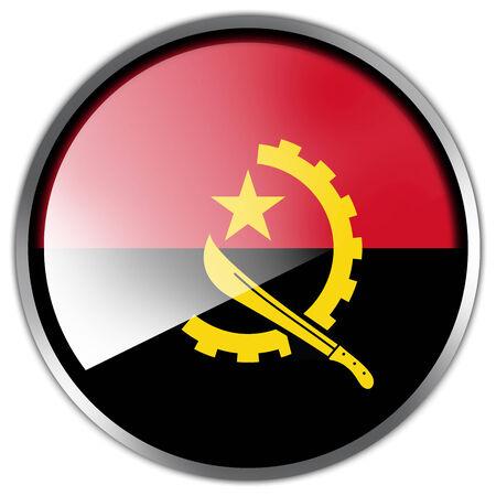 Angola Flag glossy button photo