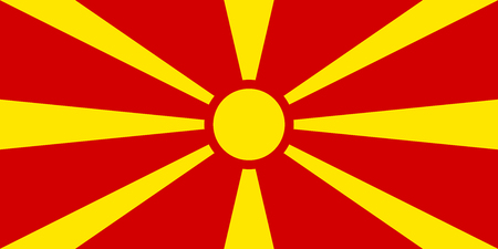 macedonia: Macedonia Flag Stock Photo