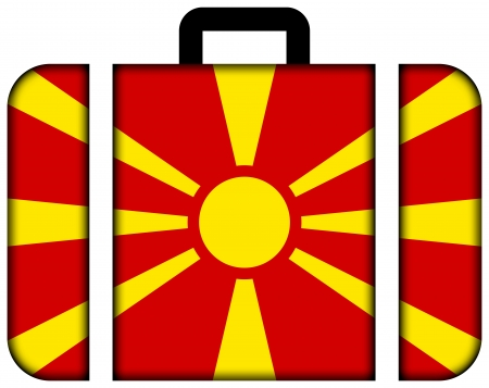 Suitcase with Macedonia Flag