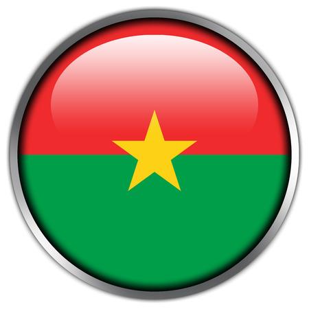 burkina faso: Burkina Faso Flag glossy button Stock Photo