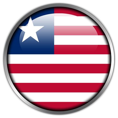 Liberia Flag glossy button photo