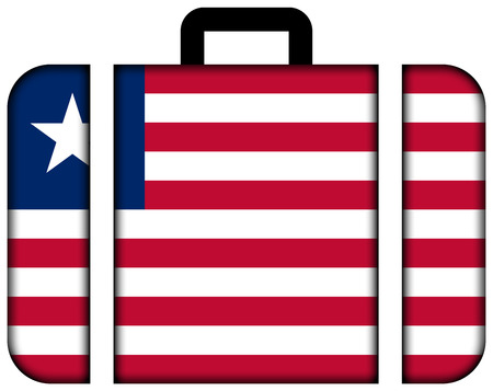 liberia: Suitcase with Liberia Flag