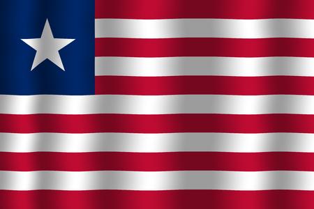 liberia: Waving Liberia Flag