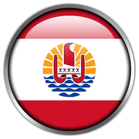 Drapeau de Polynésie française bouton brillant