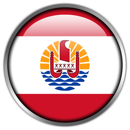 French Polynesia Flag glossy button photo