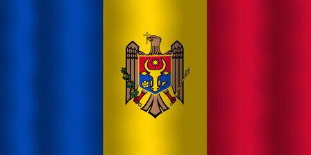 Waving Moldova Flag Imagens
