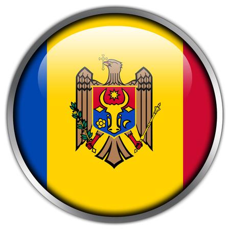 landlocked: Moldova Flag glossy button