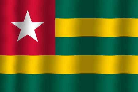 togo: Waving Togo Flag Stock Photo