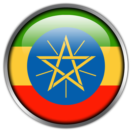 Ethiopia Flag glossy button photo