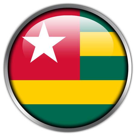 togo: Togo Flag glossy button