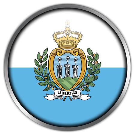 san marino: San Marino Flag glossy button Stock Photo