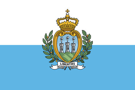 sammarinese: San Marino Bandiera Archivio Fotografico