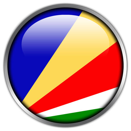 seychelles: Seychelles Flag glossy button Stock Photo
