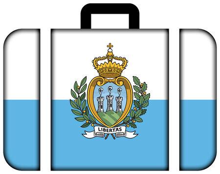 sammarinese: Valigia con San Marino Flag Archivio Fotografico