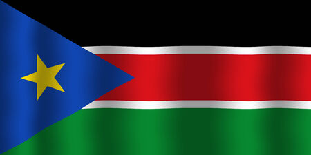 sudan: Waving South Sudan Flag Stock Photo