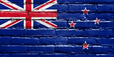 New Zealand Flag painted on brick wall photo