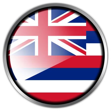 hawaii flag: Hawaii Flag glossy button