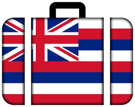 hawaii flag: Suitcase with Hawaii Flag Stock Photo