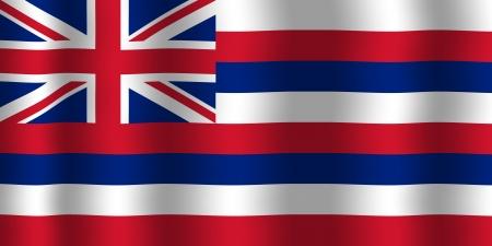 hawaii flag: Waving Hawaii Flag Stock Photo