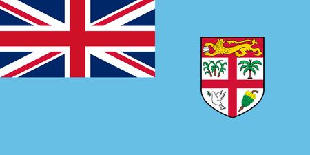fiji: Fiji Flag Stock Photo