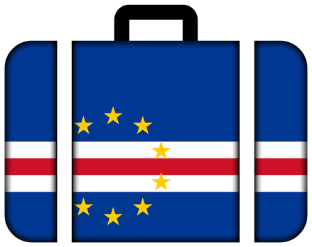 cape verde flag: Suitcase with Cape Verde Flag Stock Photo