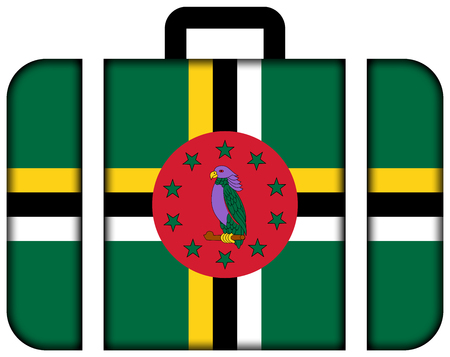 dominica: Suitcase with Dominica Flag