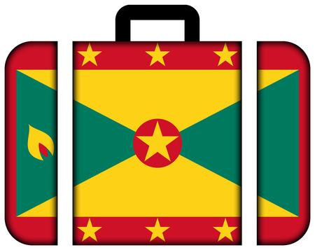 grenada: Suitcase with Grenada Flag
