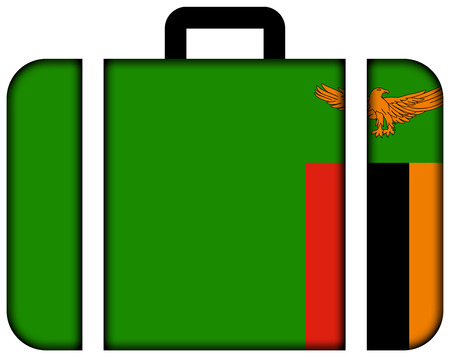 zambia flag: Suitcase with Zambia Flag