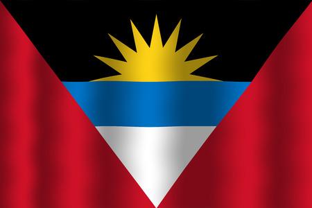 antigua flag: Waving Antigua and Barbuda Flag