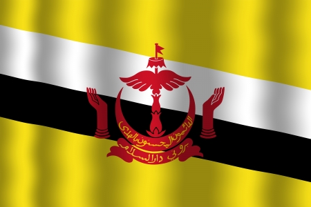 brunei: Waving Brunei Flag