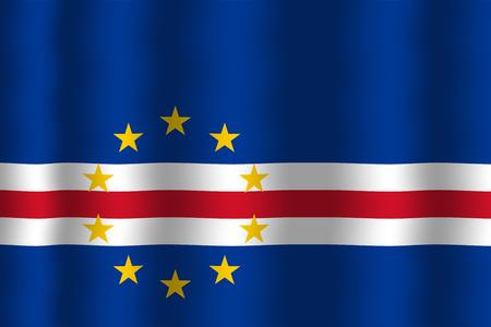 cape verde: Waving Cape Verde Flag Stock Photo