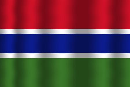 gambia: Waving Gambia Flag