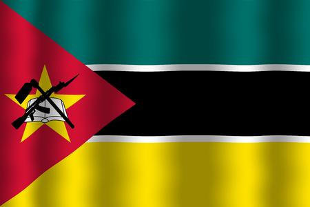 Mozambique: Waving Mozambique Flag Stock Photo