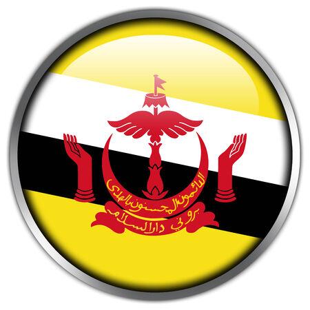 Brunei Flag glossy button photo