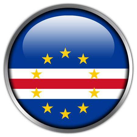 verde: Cape Verde Flag glossy button