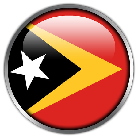 East Timor Flag glossy button photo