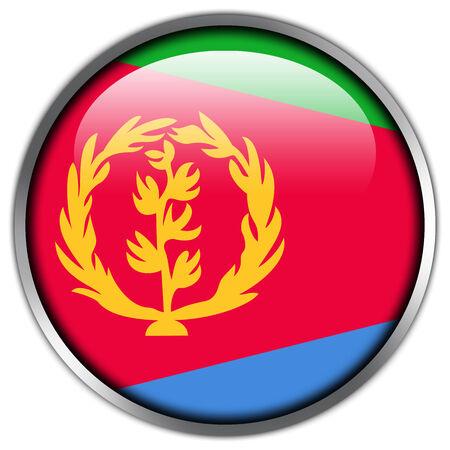 Eritrea Flag glossy button photo