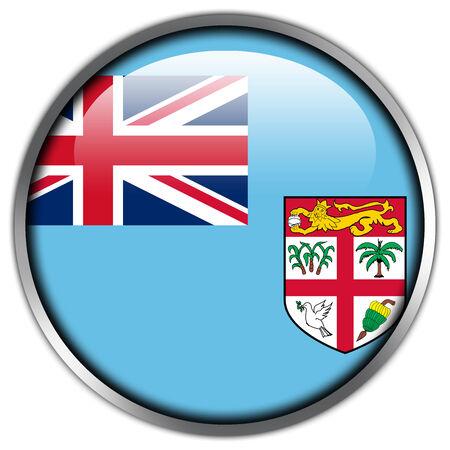 Fiji Flag glossy button photo