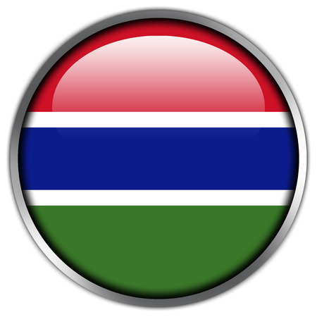 Gambia Flag glossy button photo