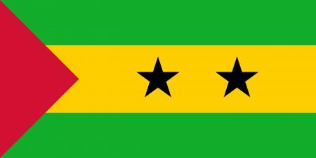 principe: Sao Tome and Principe Flag Foto de archivo