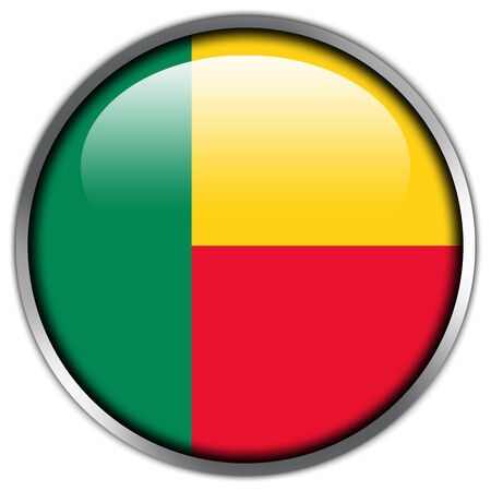 Benin Flag glossy button Stock Photo