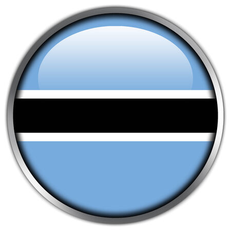 Botswana Flag glossy button photo