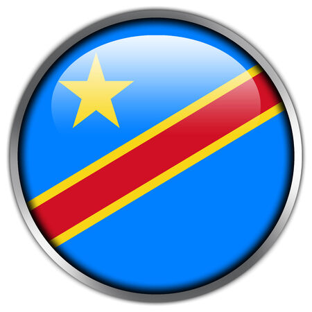 republic of the congo: Democratic Republic of the Congo Flag glossy button