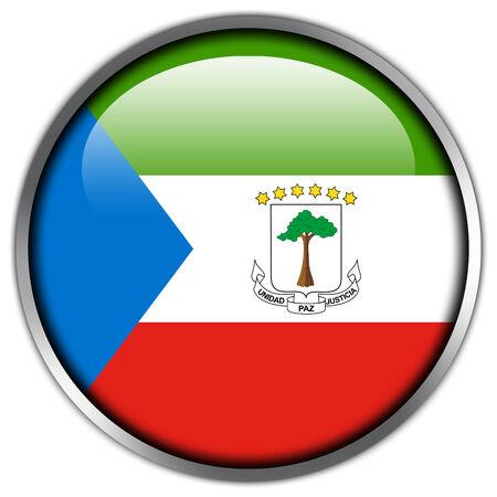 equatorial: Equatorial Guinea Flag glossy button